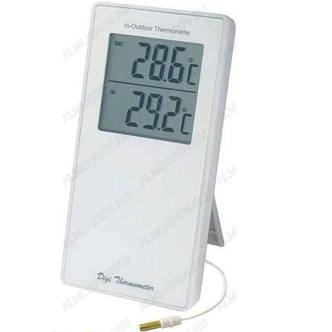 Термометр цифровой TM1055 - белый Измерение наружной и внутренней температуры (гарантия 6 месяцев)