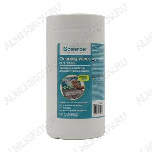 Салфетки влажные универсальные в тубе (100шт) (CLN30322)