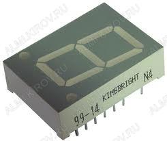 Индикатор SA08-11GWA   LED 1DIG,0.8',G,AN;16M