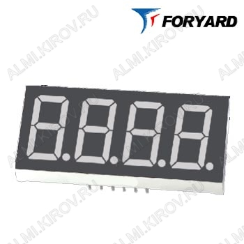 Индикатор FYQ-3641AS-21   LED 4DIG,0.36',R,AN;15M