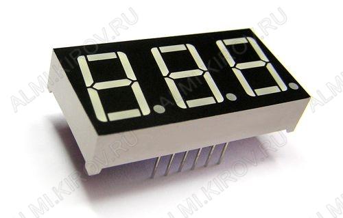 Индикатор BA56-12EWA   LED 3DIG,0.56',R,AN,6M4