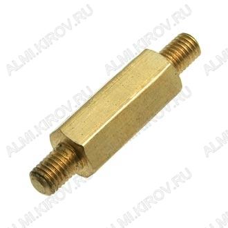 Стойка (№51) для платы PCHNN-10 металл h=10мм, резьба М3 наружная+наружная
