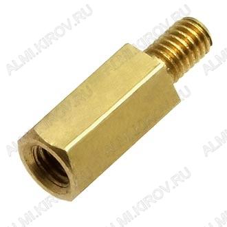 Стойка (№58) для платы PCHSN-8 металл h=8мм, резьба М3 наружная+внутренняя