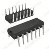 Микросхема КР1533ИЕ19 Двоично-десятичный счетчик; транзисторная логика с диодами Шоттки.