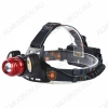 Фонарь налобный PT-FLG02(SL-150) светодиодный 1LED CREE T6 + 2LED COB; ZOOM питание 2xLi-ion18650(в комплекте демонстрационные), зарядка от сети 220В или от прикуривателя 12DCV