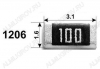 Резистор 1206W4J0000T5E   0 Ом Чип 1206 0.25Вт 5%