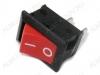 Сетевой выключатель RWB-201 (KCD1-101) красный 19,2*13,0mm; 6A/250V; 2 pin
