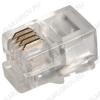 Разъем (229) TP-4P4C (RJ-10) Вилка на кабель, 4*4