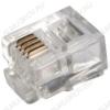Разъем (230) TP-6P4C (RJ-11) Вилка на кабель, 6*4