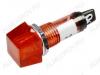 Лампа индикаторная 220V RWE-201 красная, d=10.2mm