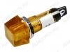Лампа индикаторная 220V RWE-201 желтая, d=10.2mm