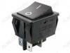 Сетевой выключатель RWB-513 (SC-767) черный широкий без подсветки 29,5*22,2mm; 15A/250V; 4 pin