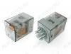 Реле 60.13.8.024.0040 (601380240040)   Тип 32 24VAC 3C(TPDT) 10A 32.5*36.4*54.2mm; круглая колодка 11pin, блокируемая кнопка проверки + механический индикатор