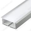 Профиль накладной SL-LINE-2011M-2500 BLACK+OPAL SQUARE (027993)  для линейных светильников размеры: 2500*20*20мм; комплект: профиль, экран, заглушки; черный