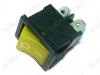 Сетевой выключатель RWB-207 (SWR-45) желтый с подсветкой 19,2*13,3mm; 6A/12V; 4 pin