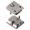 Разъем (384) MICRO USB 2pin гнездо на плату 2крепежа в плату