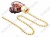 Выключатель для настенного светильника с цепочкой (32-0102) gold 220V; 3A