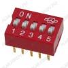 Переключатель DS-05 25mA/24VDC; шаг 2.54мм