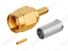 Разъем (392) RP-SMA-C174P Штекер на кабель RG-174 под обжим
