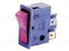 Сетевой выключатель ВК-42 красно-черный 34,0*12,5mm; 16A/220V; 4 pin