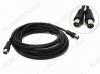 Удлинитель антенный TV шт/TV гн 1.5м (67-003) 3C2V, черный