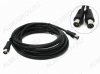 Удлинитель антенный TV шт/TV гн 3.0м (67-004) 3C2V, черный