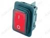 Сетевой выключатель RWB-507 влагозащищенный красный широкий с подсветкой 27,8*21,8mm; 15A/250V; 4 pin