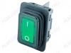 Сетевой выключатель RWB-507 влагозащищенный зеленый широкий с подсветкой 27,8*21,8mm; 15A/250V; 4 pin