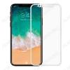 Защитное стекло Apple iPhone X, 6D, белое