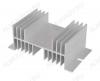 Радиатор реле твердотельного РТР061.1 Для однофазного реле 144x67x50 мм