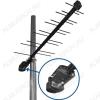 Антенна наружная Дельта H111A-02F-12V активная ДМВ/DVB-T2; 27,5dB; без кабеля; F-разъем; + блок питания 12V