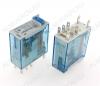 Реле 46.52.9.024.0040 (465290240040)   Тип 10.2 24VDC 2C(DPDT) 8A 29*12.4*32.8mm; блокируемая кнопка проверки + механический индикатор