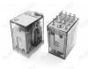 Реле 55.34.8.110.0040 (553481100040)   Тип 17 110VAC 4C(4PDT) 7A 27.7*20.7*37.2mm; блокируемая кнопка проверки + механический индикатор