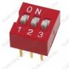 Переключатель DS-03 25mA/24VDC; шаг 2.54мм