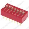 Переключатель DS-07 25mA/24VDC; шаг 2.54мм