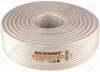 Кабель RG6U (01-2201) Белый; CCS1*1,0; ALP+AL64%; PVC6,80