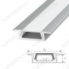 Профиль врезной RC-2206 (000985)  для LED-ленты шириной до 11мм размеры: 2000*22*6мм; комплект: профиль, экран, 2 заглушки, 4 скобы, крепеж