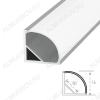 Профиль угловой SF-1616 (000086)  для LED-ленты шириной до 10мм размеры: 2000*16*16мм; комплект: профиль, экран (сфера), 2 заглушки, скобы, крепеж