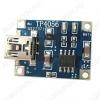 Модуль заряда АКБ TP4056 (mini USB) контролирующий уровень заряда литиевых АКБ Максимальный пропускной ток: 1А; Точность определения уровня заряда: 1.5%; Напряжение питания: 5В от USB;
