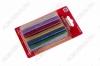 Термоклей d=11мм цветной с блестками (набор 12шт) (09-1235)
