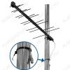 Антенна наружная Дельта H111A-04F-5V активная ДМВ/DVB-T2; 26dB; питание 5V от ресивера; без кабеля; F-разъем