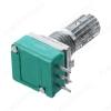 Потенциометр 50KB (3pin) №10 для раций Металлический, вал 15 мм с накаткой и шлицем, линейная зависимость
