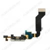 Шлейф для iPhone 4S + разъем зарядки + микрофон белый