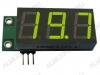 Радиоконструктор Вольтметр цифровой 0...+99В SVH0001G встраиваемый (зелёный) Диапазон измеряемых напряжений 0..+99В,напряжение питания (фильтрованное) +6В..+20В (с радиатором до +35В),45х19х14мм,шунт в комплект не входит
