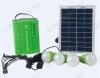 Комплект освещения E-Power HT-732G на солнечной батарее 8Вт с четырьмя лампами по 3Вт (зеленый) с блоком управления с аккумуляторной батареей, USB выходом и встроенным радиоприемником,