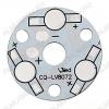 Плата алюминиевая 3x1W 1color d=32мм для светодиодов EMITTER