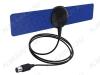 Антенна комнатная MICRO DIGITAL S активная ДМВ/DVB-T2; 33dB; питание 5V от ресивера; с кабелем 1.2м