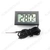 Радиоконструктор Термометр цифровой встраиваемый MP512 (с выносным датчиком) Пластиковый корпус с герметичным термодатчиком. Благодаря применению LCD дисплея, может проработать от  одного элемента питания не менее года.