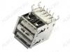 Разъем (370) USB A-2FR Розетка на плату сдвоенная