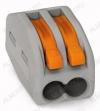 Клемма WAGO 222-412 зажимная 2x2.5мм (0.08-4.0мм) 380V; 32A
